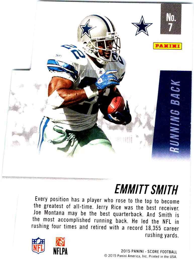 2015 Score Ground Gainers Emmitt Smith 7 On Kronozio