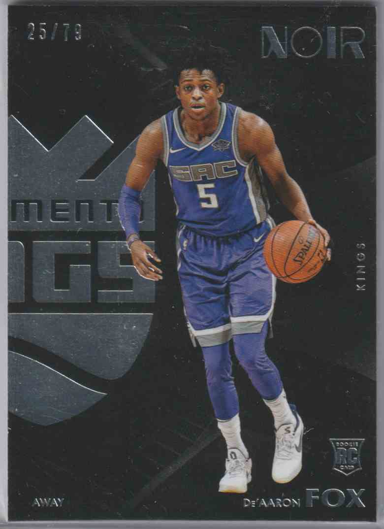 2017-18 Panini Noir Base Away De'Aaron Fox #197 card front image