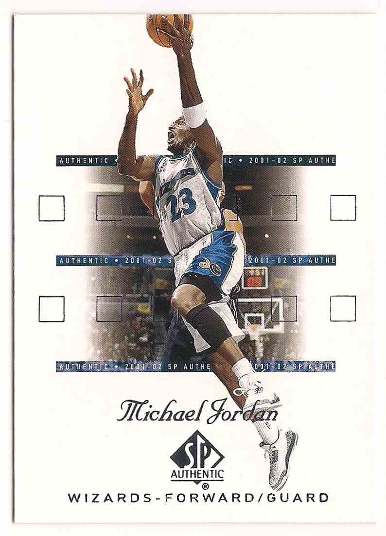 2001-02 SP Authentic Michael Jordan #90 card front image