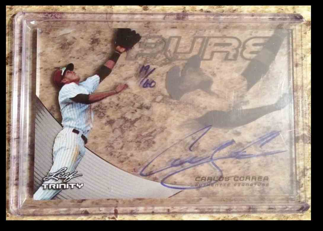 2014 Leaf Pure Glass Carlos Correa card front image