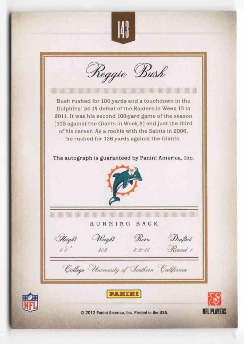 2011 Prime Signatures Autographs Gold Reggie Bush #143 card back image