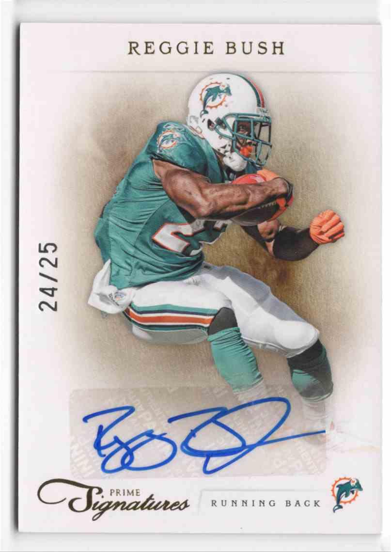 2011 Prime Signatures Autographs Gold Reggie Bush #143 card front image