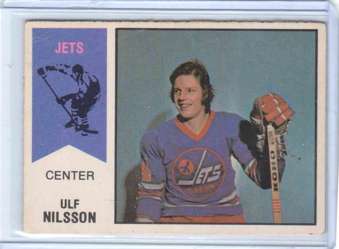1974-75 O-Pee-Chee Wha Ulf Nilsson #4 card front image