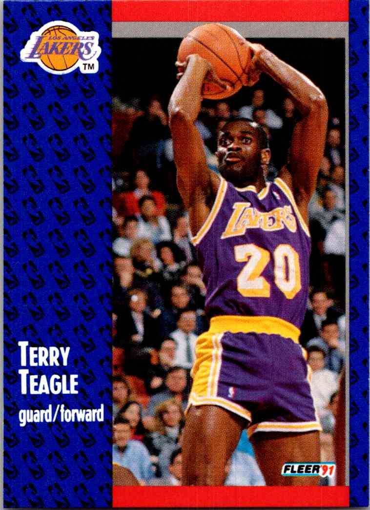 1991-92 Fleer Terry Teagle #103 card front image