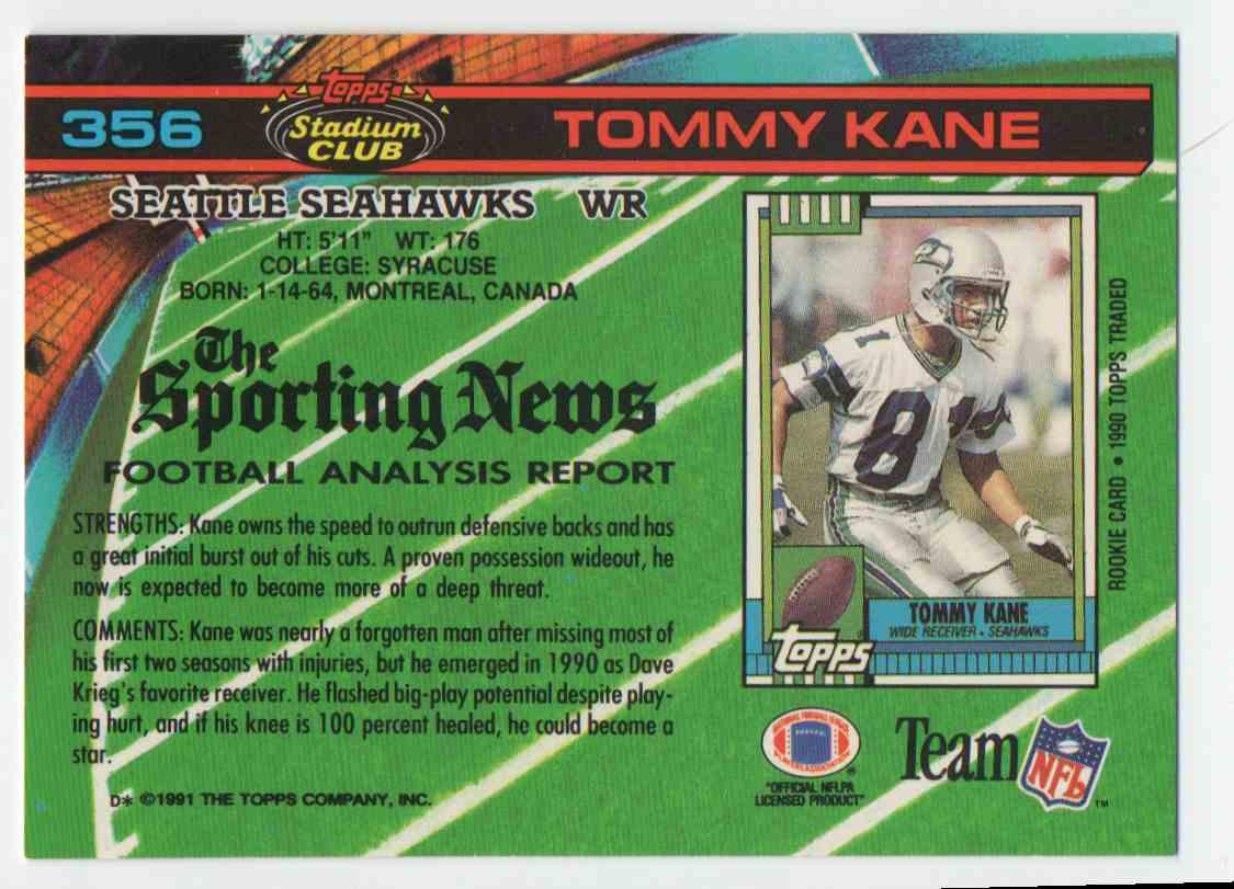 1991 Stadium Club Tommy Kane 356 On Kronozio