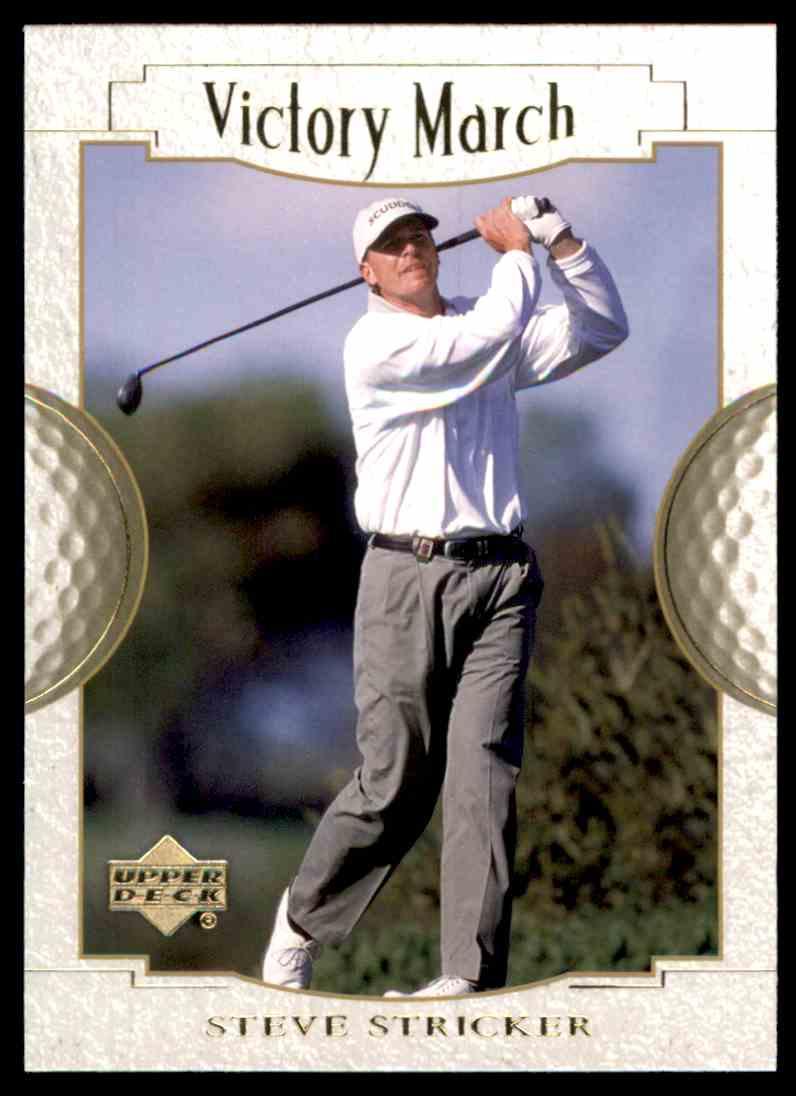 2001 Upper Deck Steve Stricker VM #142 card front image