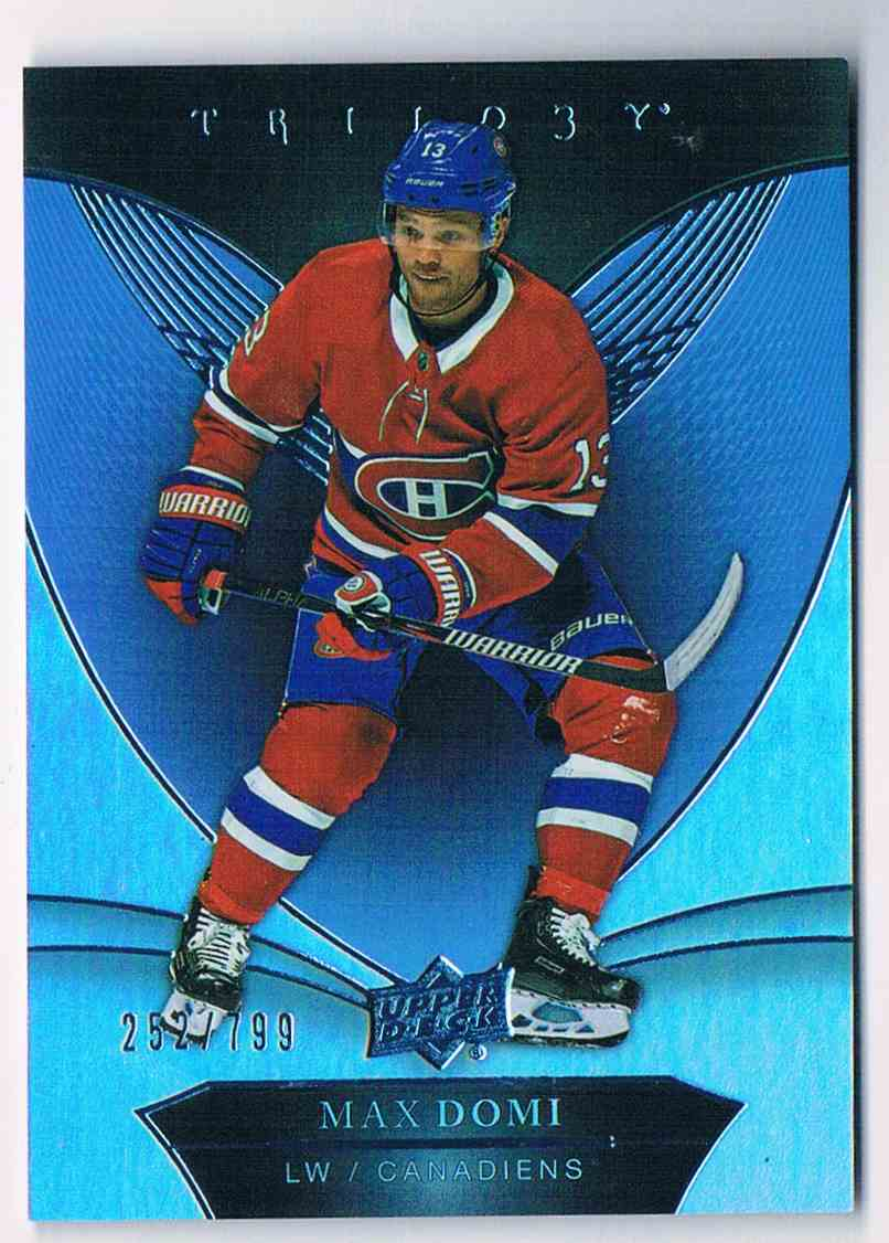 2018-19 Trilogy Blue Max Domi #47 card front image