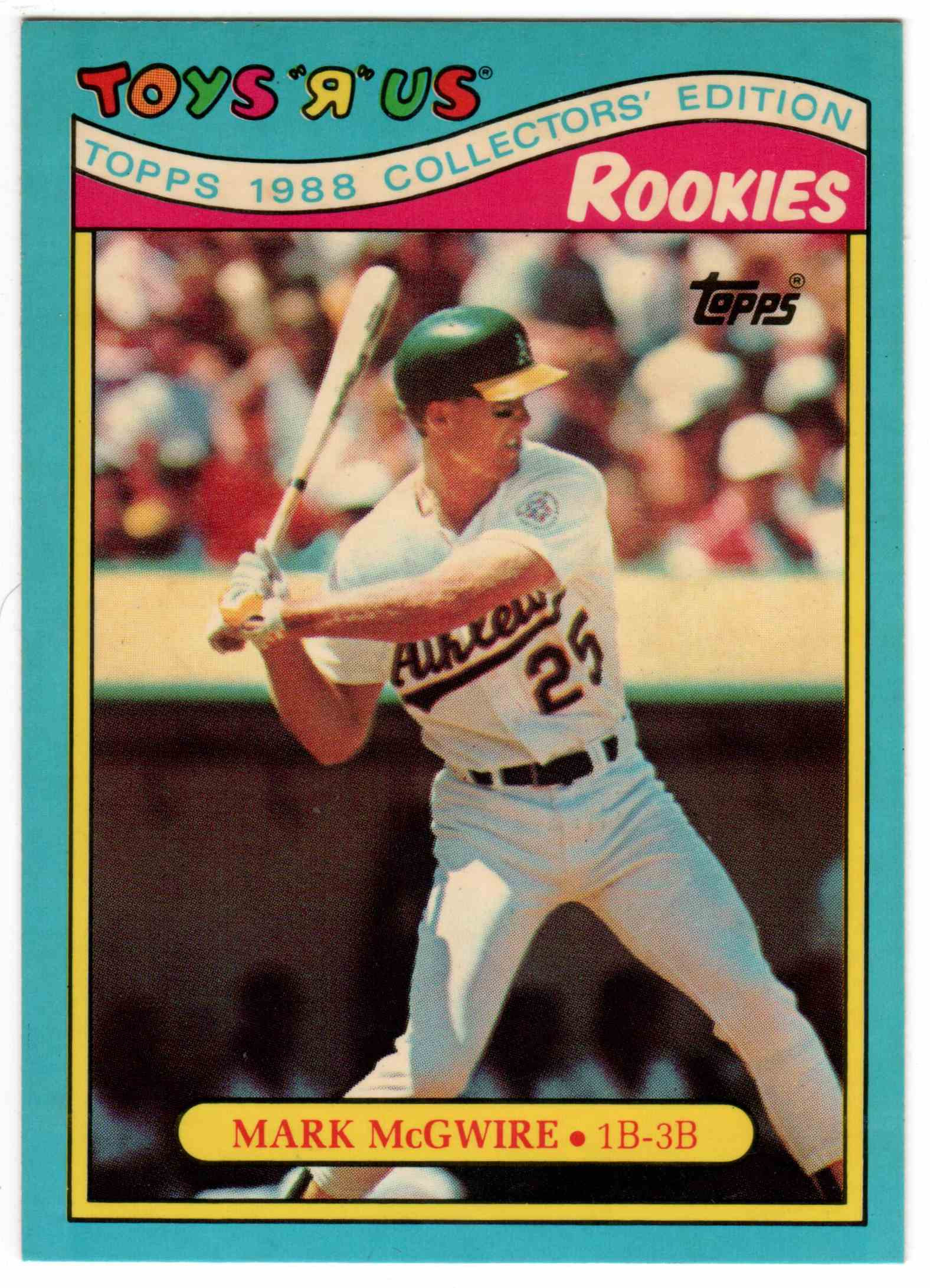 1988 Topps Toys R Us Rookies Mark McGwire #19 card front image