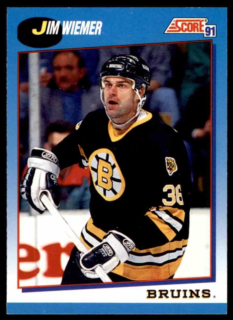 1991-92 Score Canadian Bilingual Jim Wiemer #535 card front image