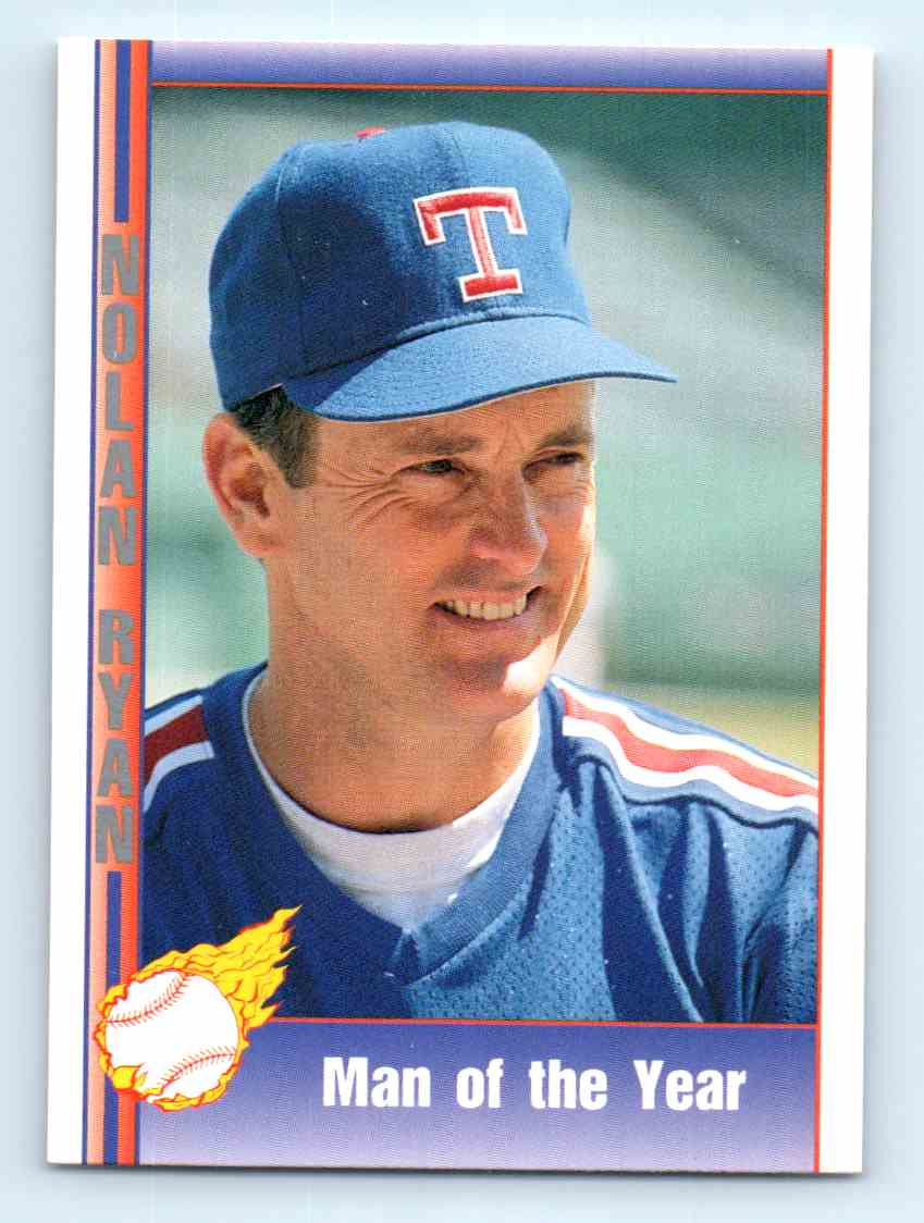 1991 Pacific Nolan Ryan Express Man Of The Year 173 On