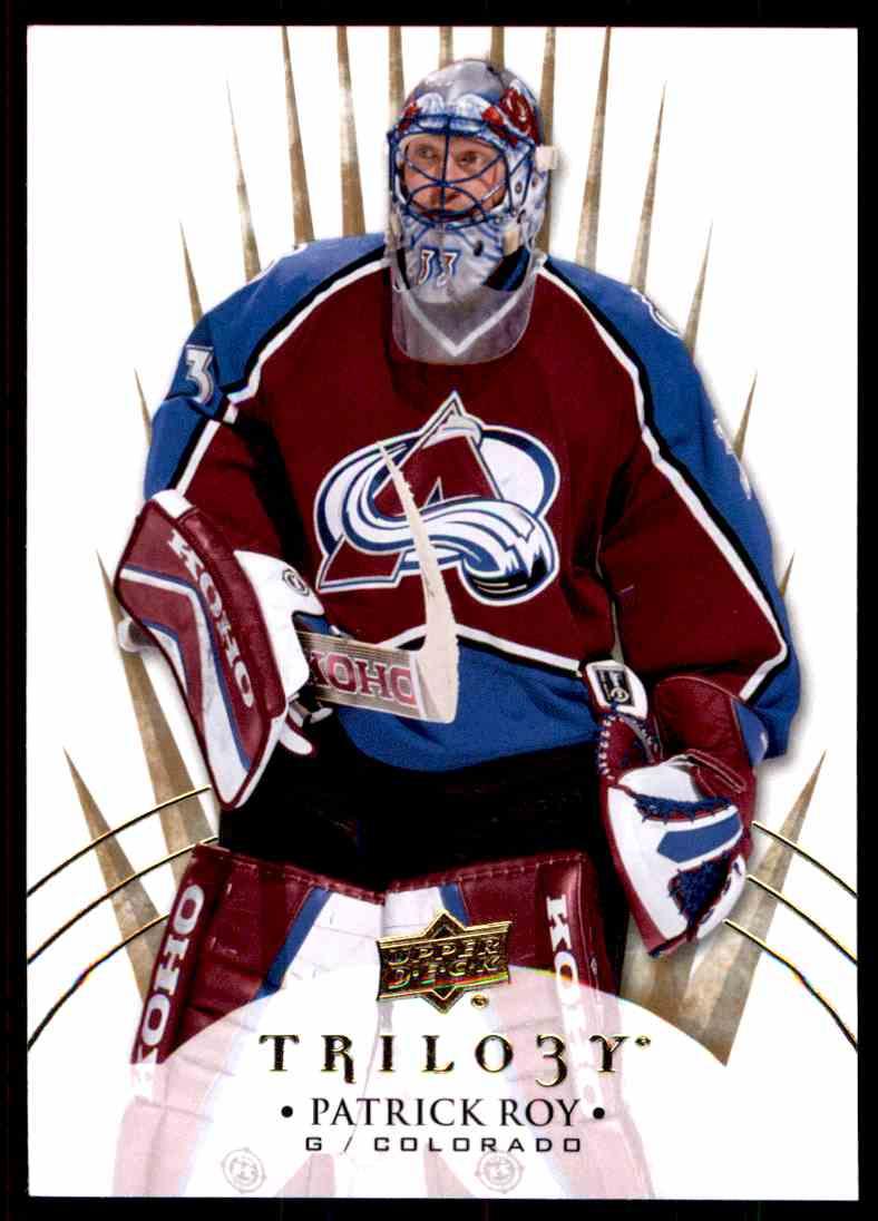 2014-15 Upper Deck Trilogy Patrick Roy #93 card front image