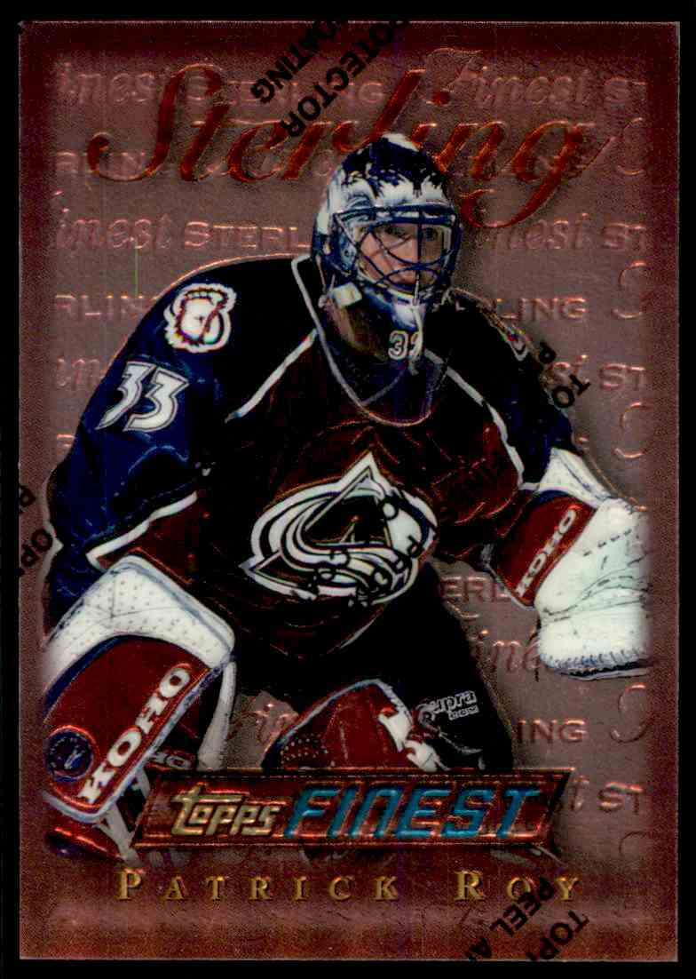 1995-96 Topps Finest Patrick Roy #145 card front image