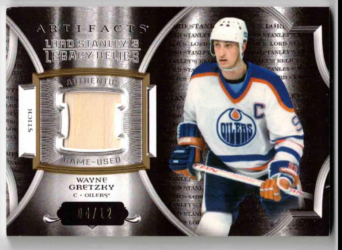 2015-16 Upper Deck Artifacts Lord Stanley's Legacy Relics Gold Wayne Gretzky #LSLR-WG card front image