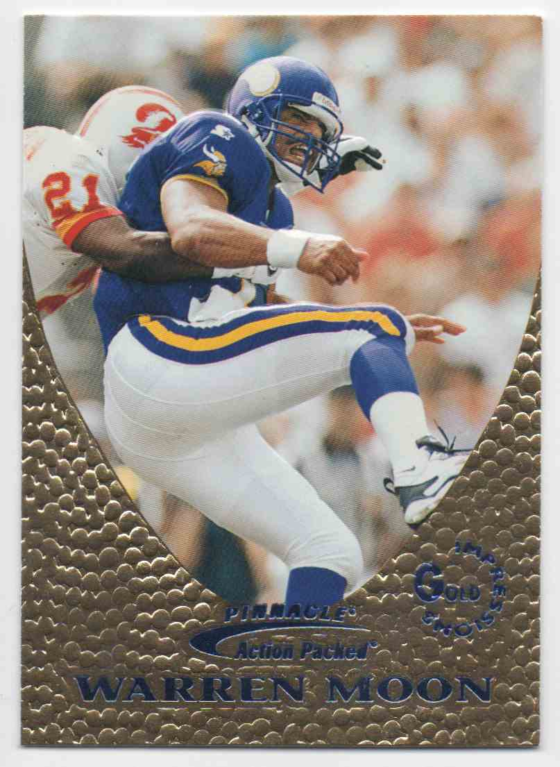 1997 Action Packed Gold Impressions Warren Moon #6 card front image