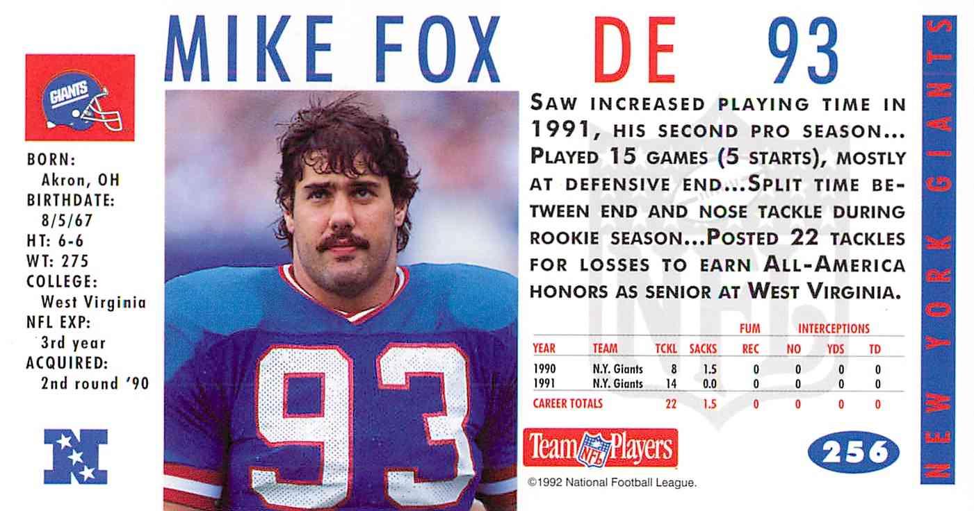 1992 game day mike fox 256 on kronozio