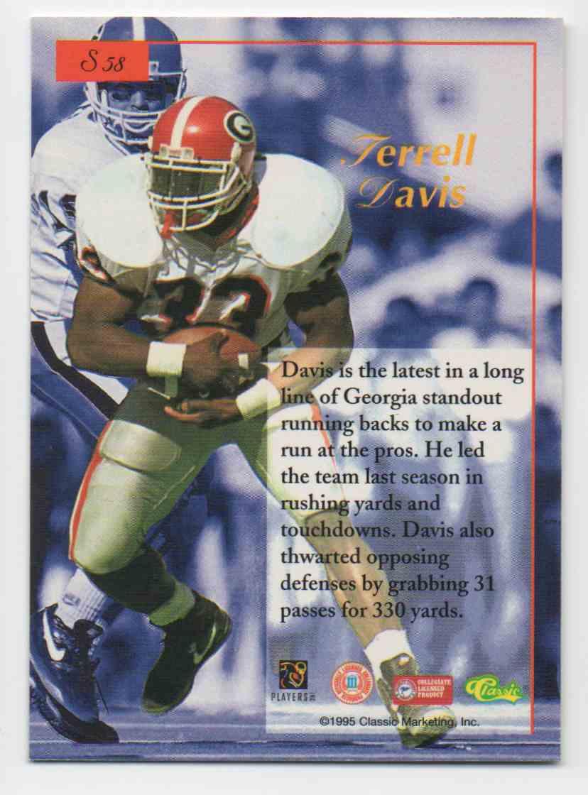 1995 Classic Five Sport Terrell Davis #58 card back image
