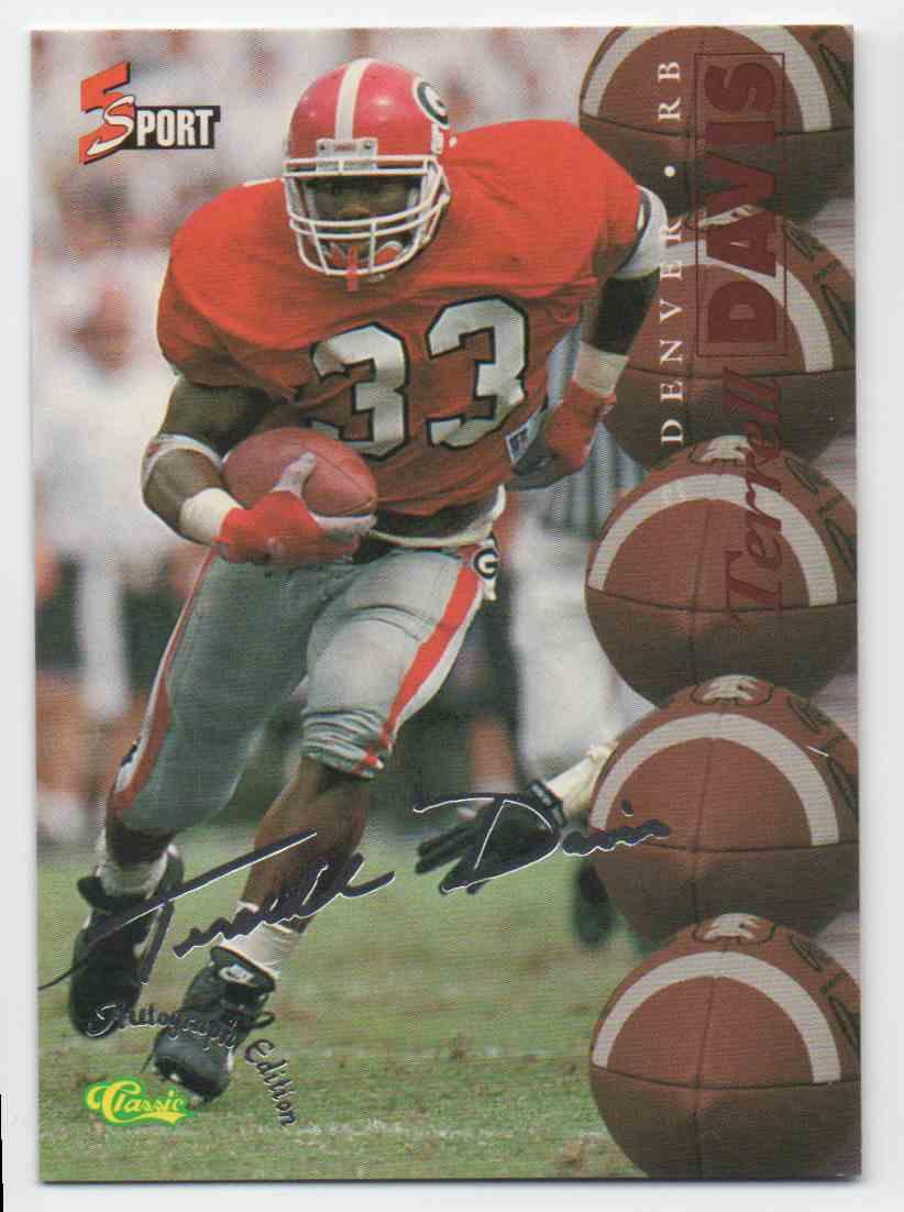1995 Classic Five Sport Terrell Davis #58 card front image
