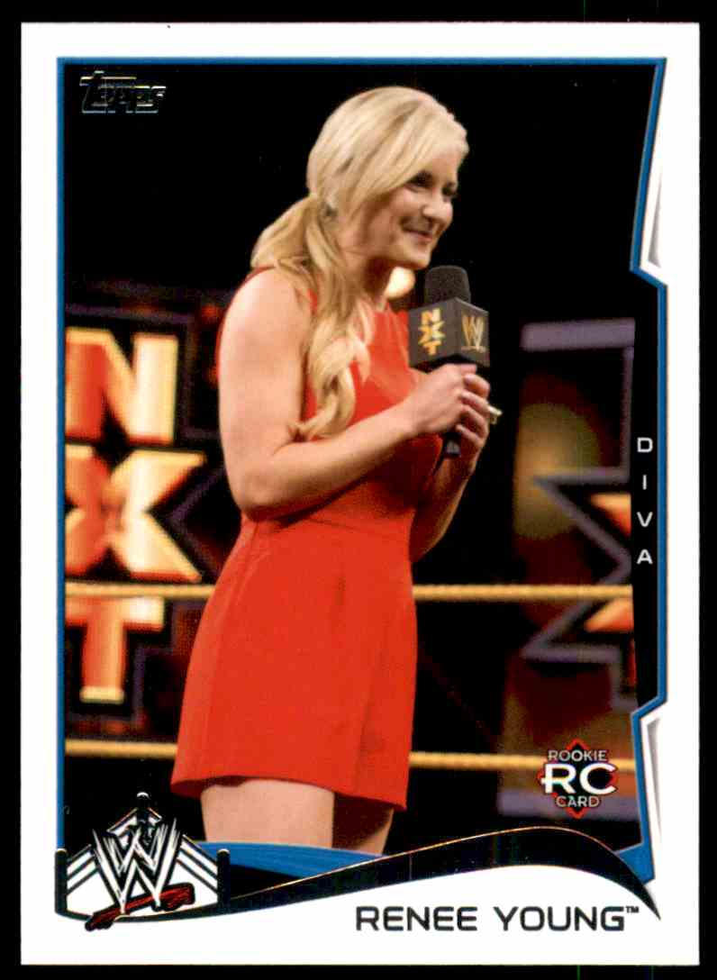 2014 Topps Wwe Renee Young #83 card front image