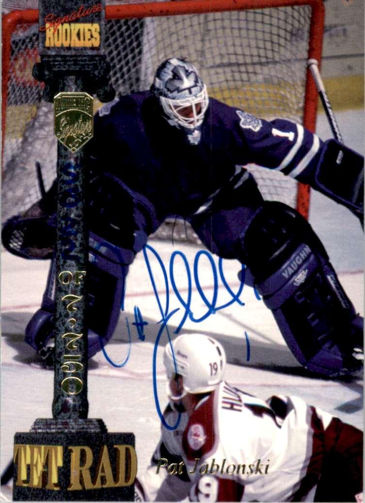 1994-95 Signature Rookies Tetrad Autographs Pat Jablonski #CV1 card front image