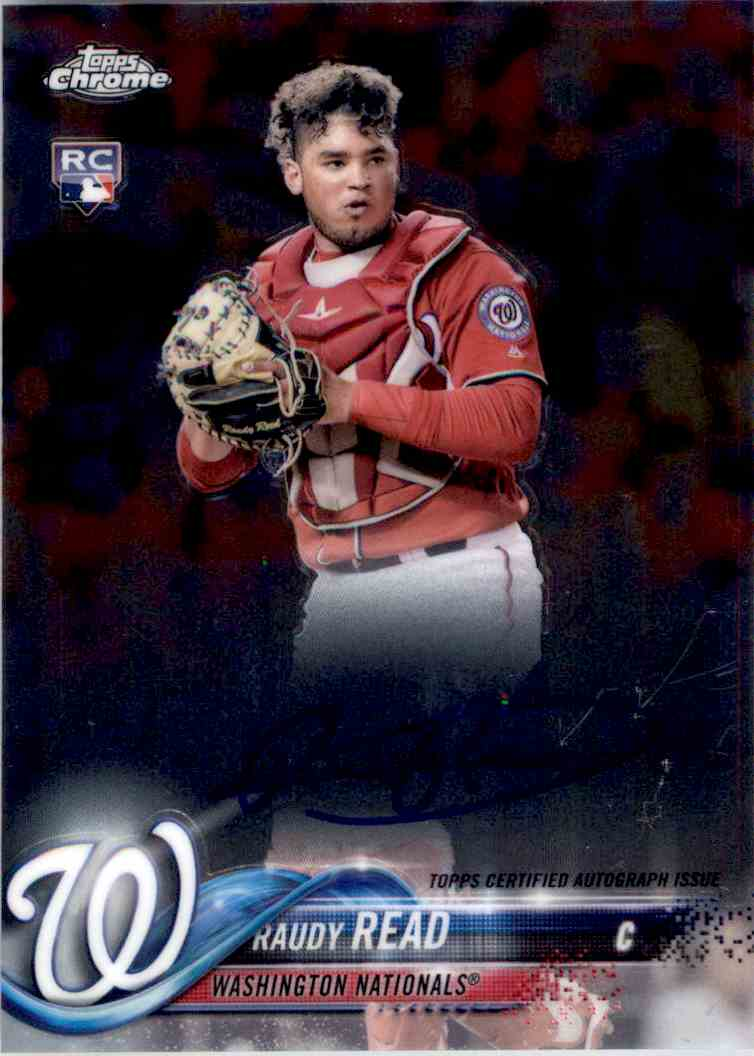 2018 Topps Chrome Base Autograph Raudy Read #RA-RR card front image