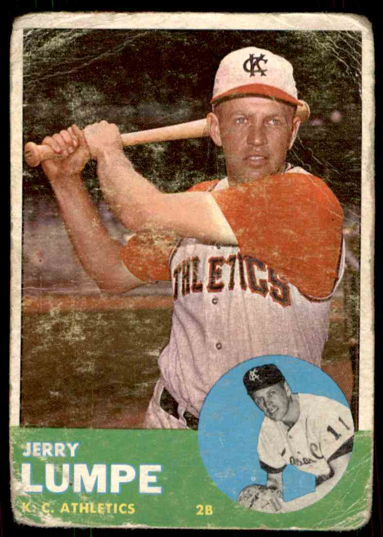 1963 Topps Jerry Lumpe #256 card front image