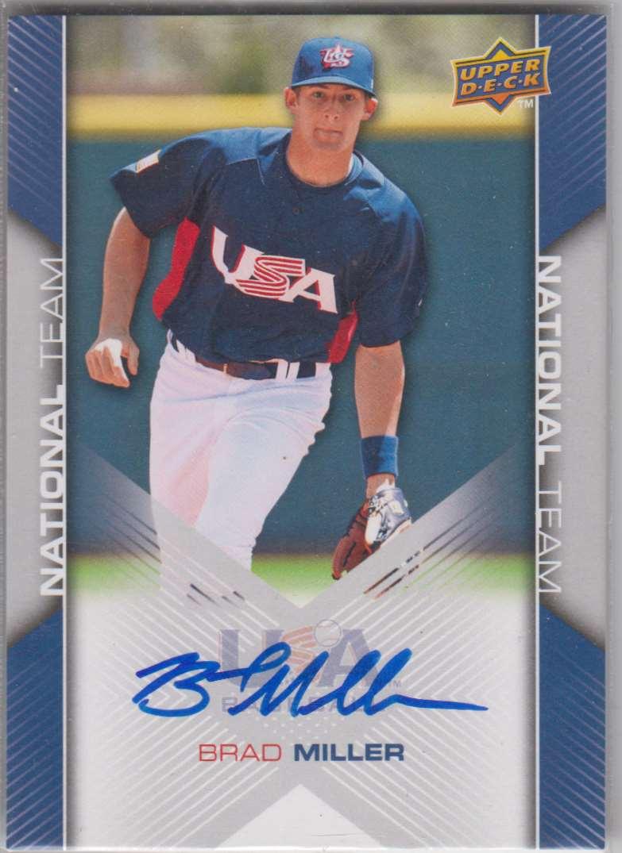 2009 Upper Deck 2009-10 USA Baseball Brad Miller #USA-77 card front image