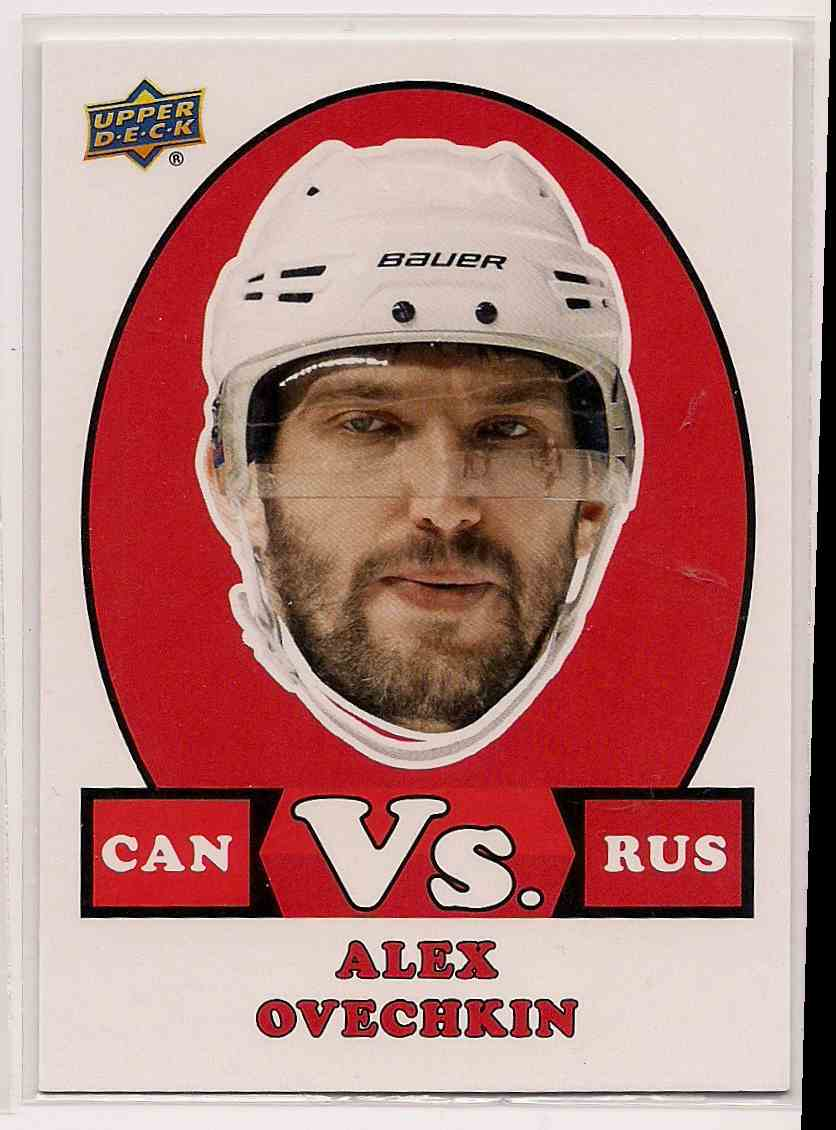 2017-18 Upper Deck Team Canada Vs. Alex Ovechkin #VS-2 card front image