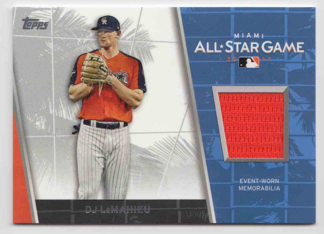2017 Topps Update All-Star Stitches Relics D.J. LeMahieu #ASR-DL card front image