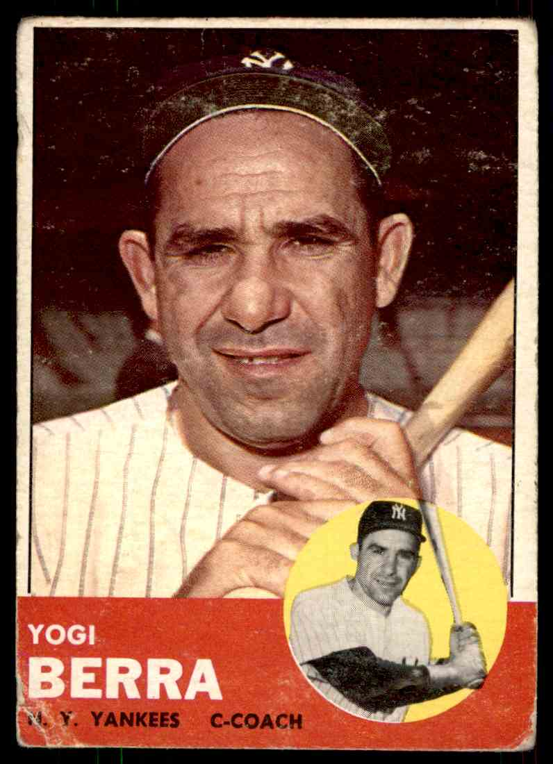1963 Topps Yogi Berra #340 card front image