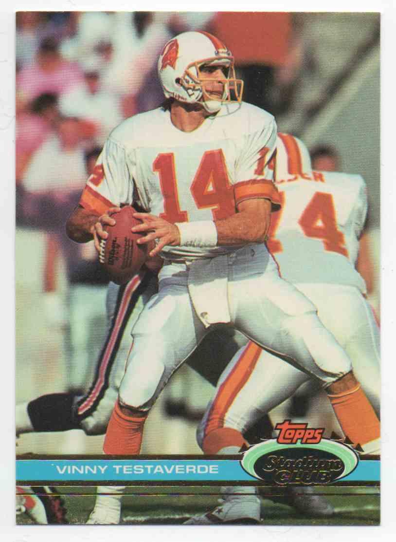 1991 Stadium Club Vinny Testaverde #24 card front image