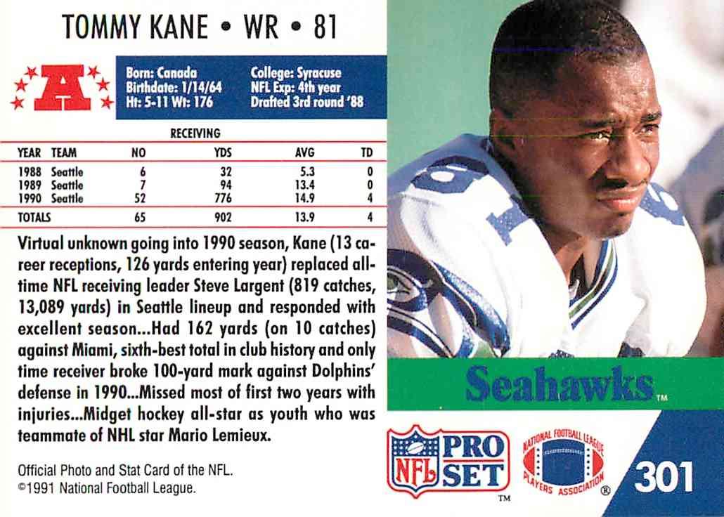 1991 Pro Set Tommy Kane 301 On Kronozio