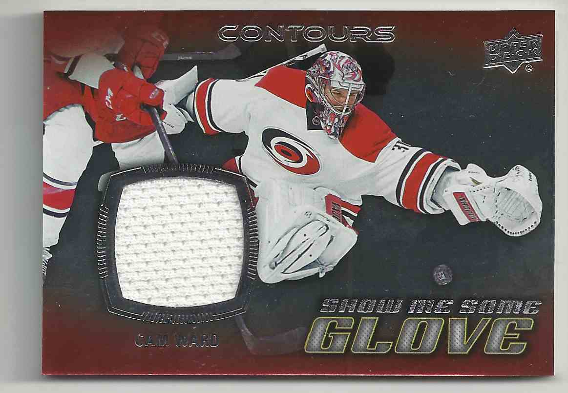 2015-16 Upper Deck Contours Show Me Some Glove Cam Ward #S-5 card front image