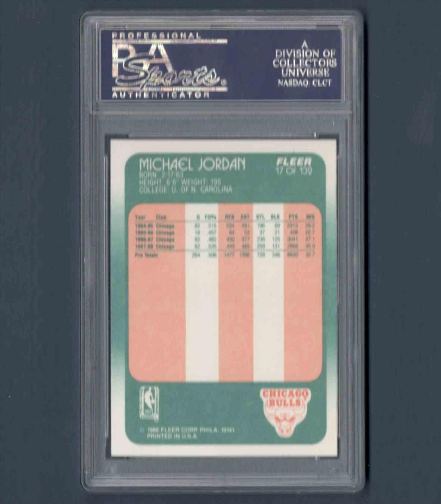 1988-89 Fleer Michael Jordany #17 card back image
