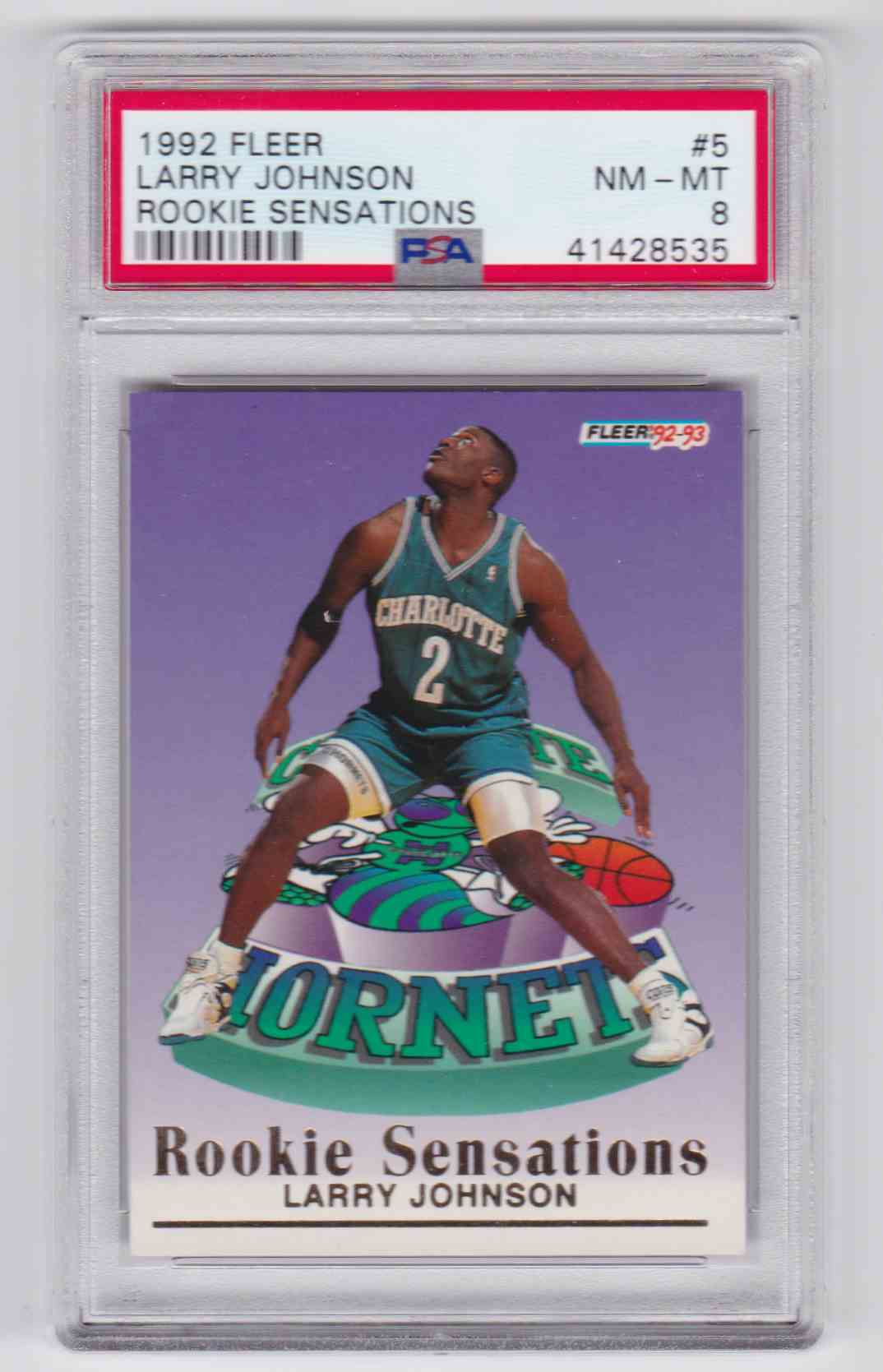 1992 93 Fleer Rookie Sensations Larry Johnson 5 On Kronozio