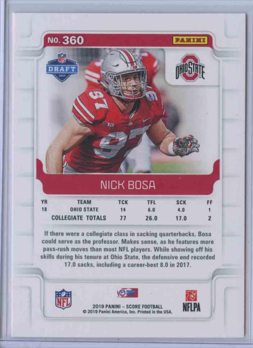 2019 Score Rookie Nick Bosa 360 On Kronozio