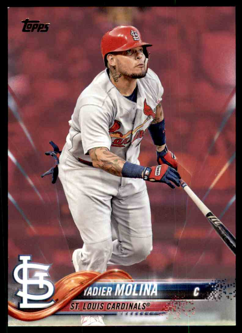 timeless design c1977 3e579 2018 Topps Series 2 Mother's Day Pink Yadier Molina on ...