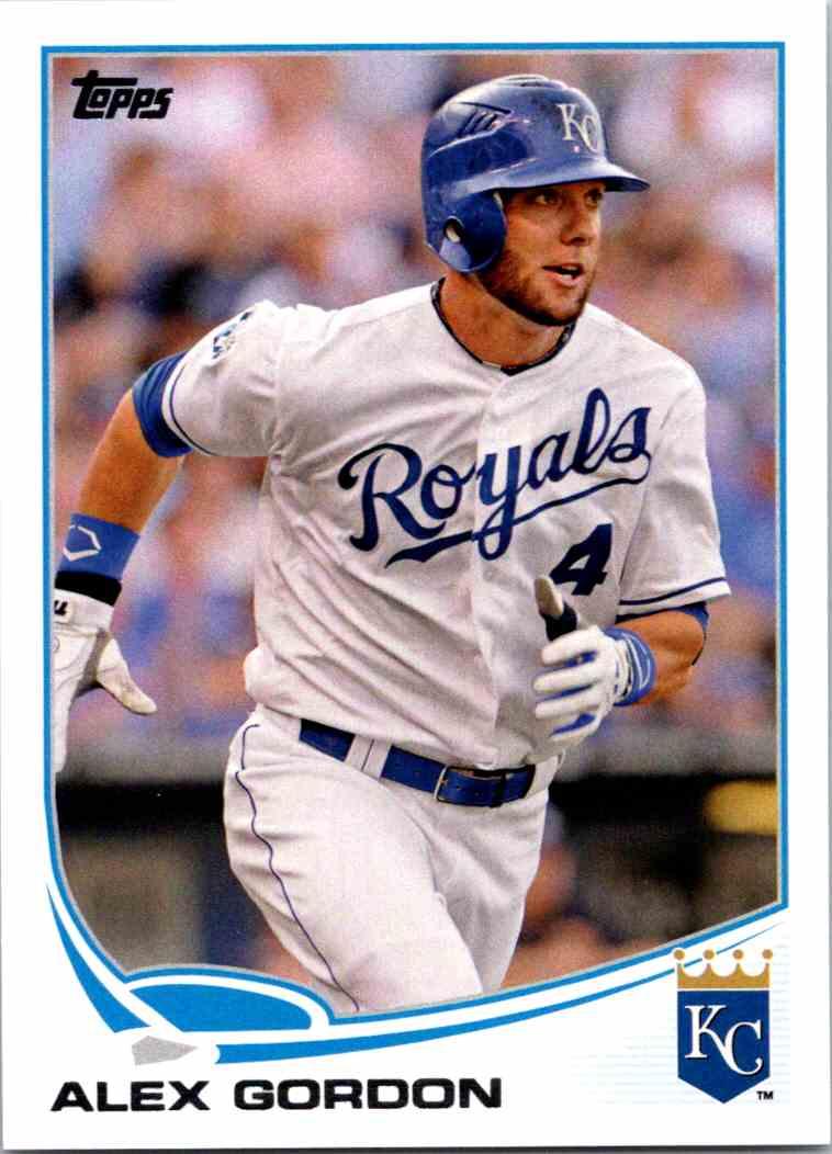 2013 Topps Baseball Alex Gordon 204 On Kronozio