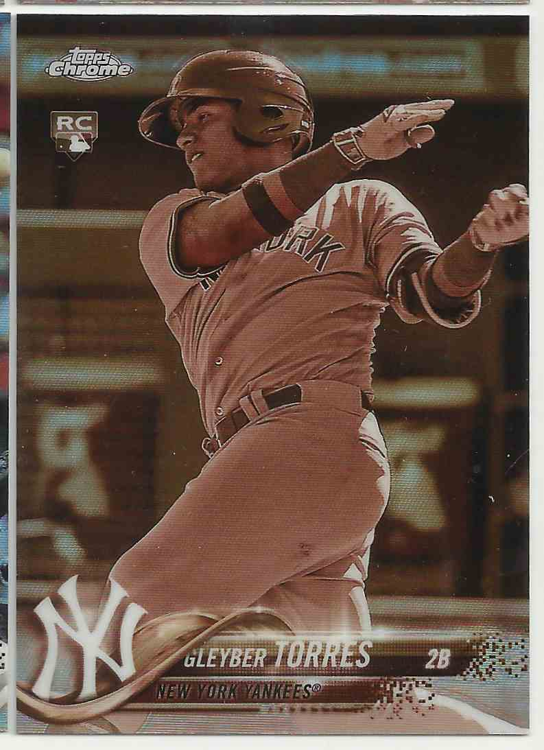 2018 Topps Chrome Sepia Refractors Gleyber Torres #31 card front image