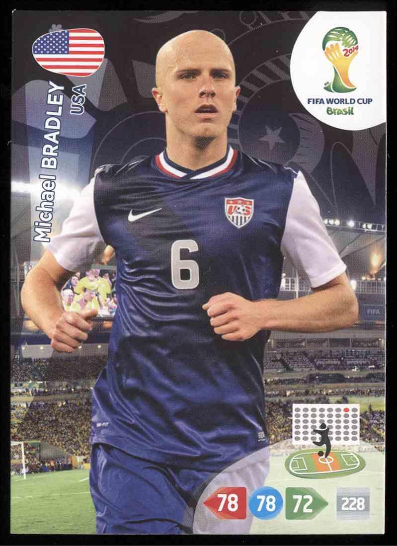b477fa018 2014 Panini Adrenalyn Xl Fifa World Cup Brazil Michael Bradley  322 card  front image