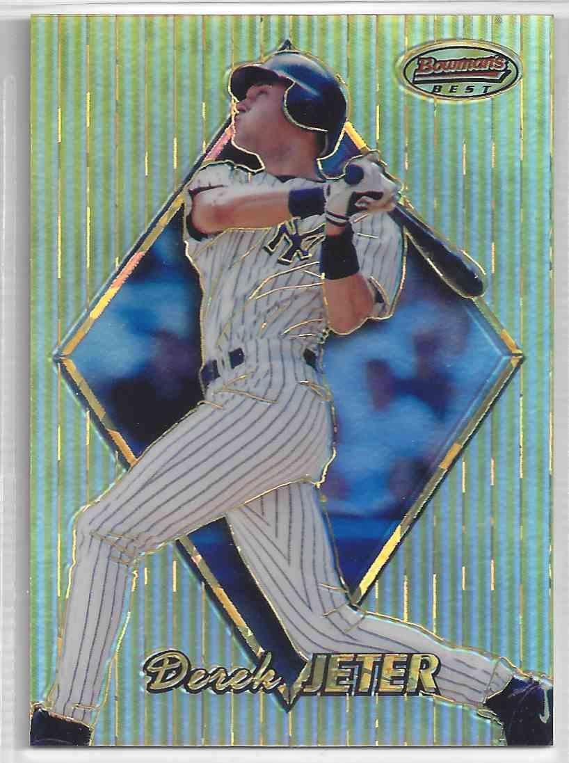 1999 Bowman's Best Atomic Refractor Derek Jeter #73 card front image