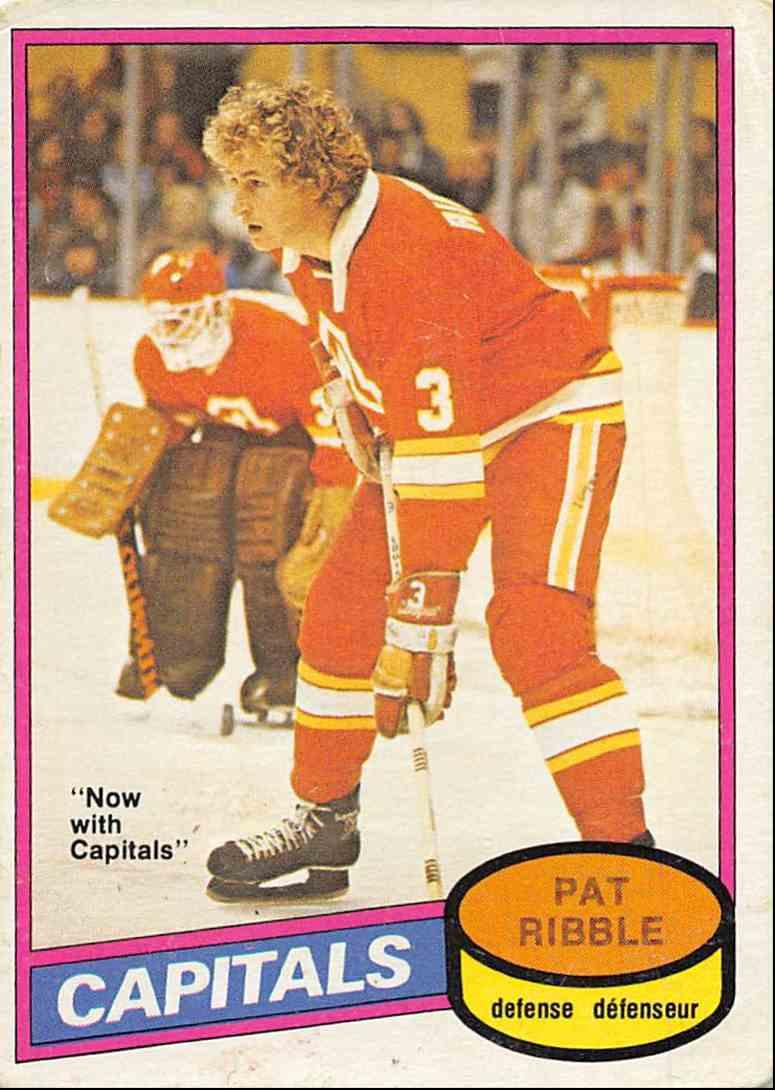 1980-81 O-Pee-Chee Pat Ribble #393 card front image