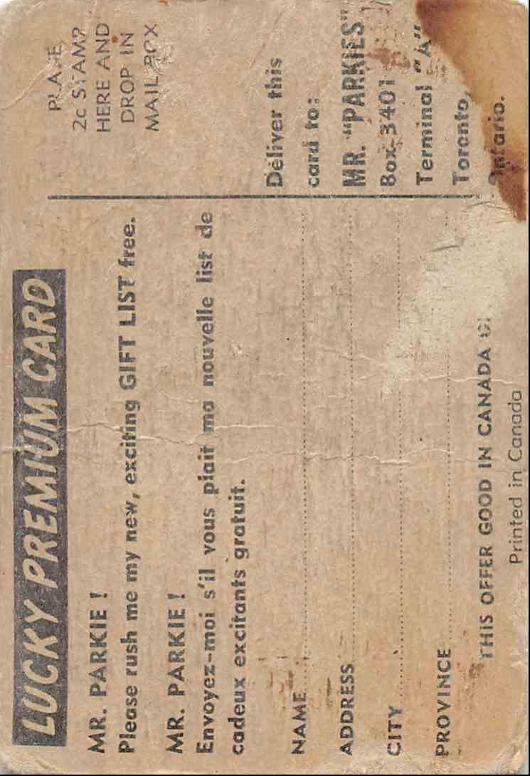 1954-55 Parkhurst Camille Henry #73 card back image