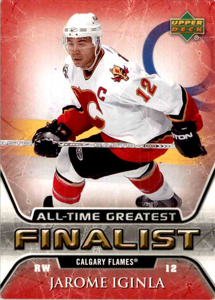 2005-06 Upper Deck All-Time Greatest Jarome Iginla #9 card front image