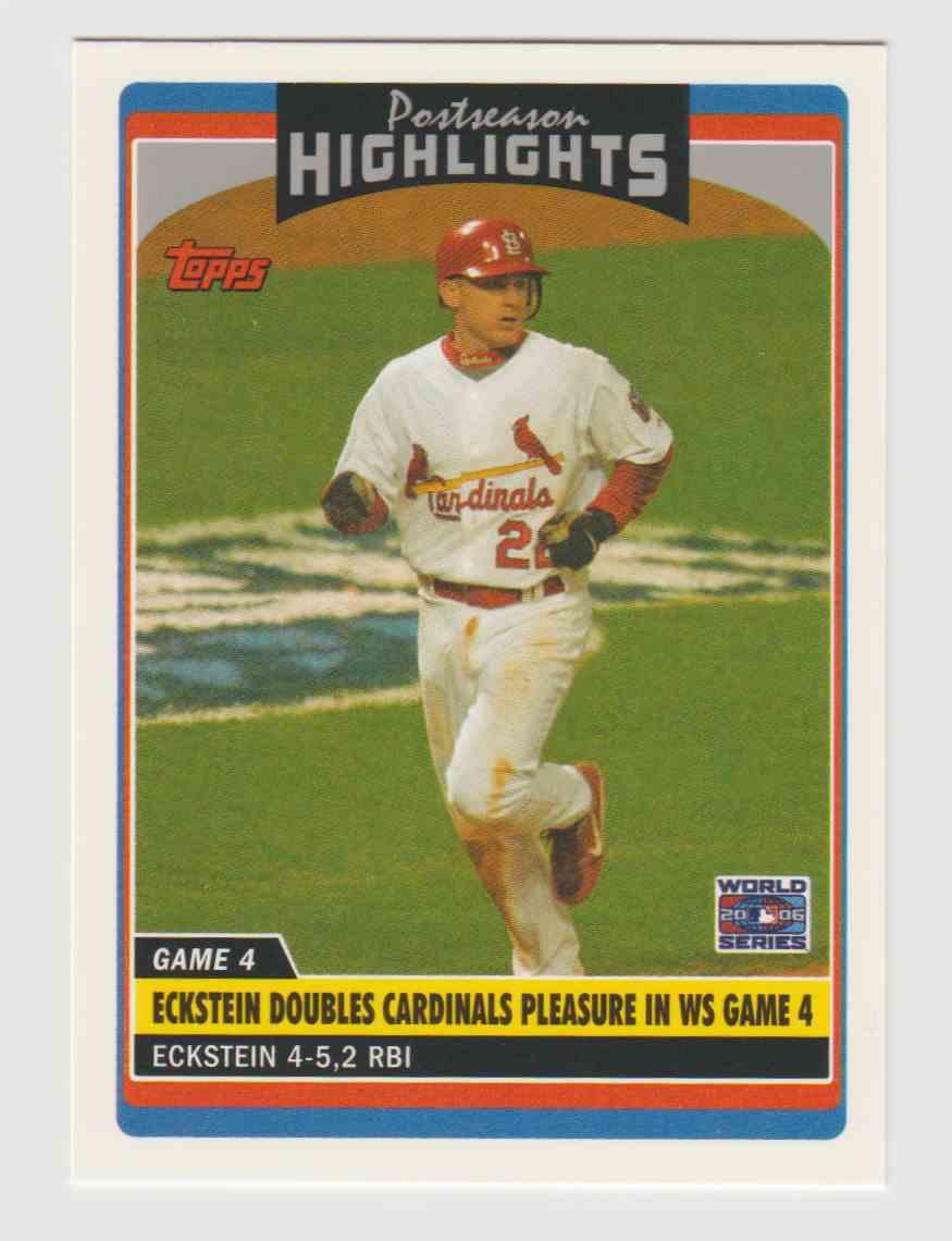 2006 Topps Update David Eckstein World Series Game 4 UH200