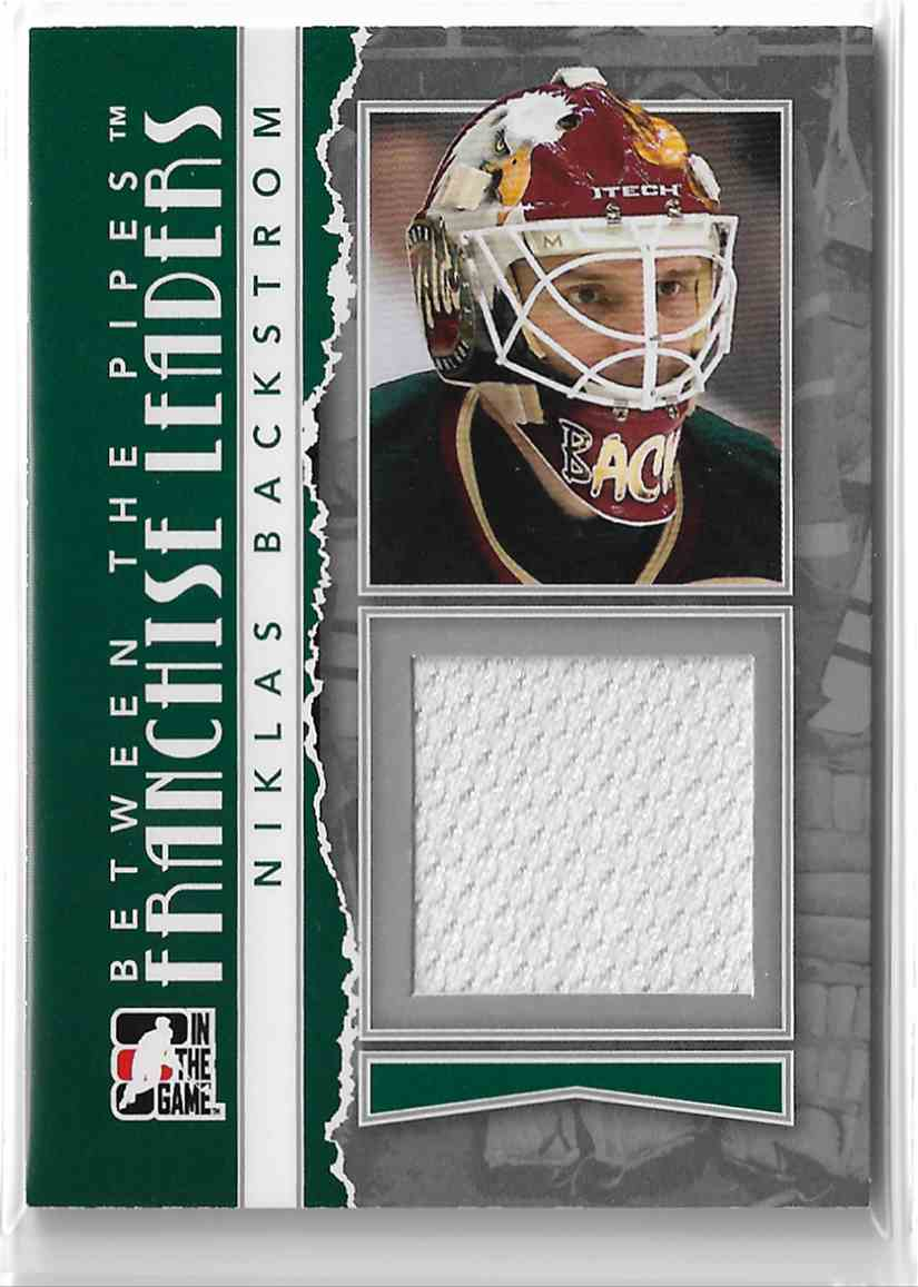 2010-11 In The Game Between The Pipes Franchise Leaders Silver Niklas Backstrom #FL-15 card front image