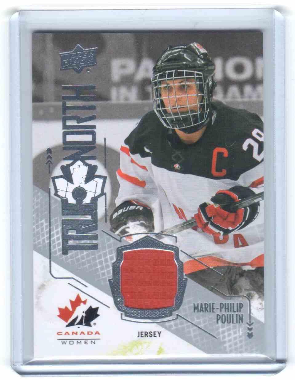 2015-16 Upper Deck Team Canada Juniors True North Jerseys Marie-Philip Poulin #TN-MP card front image