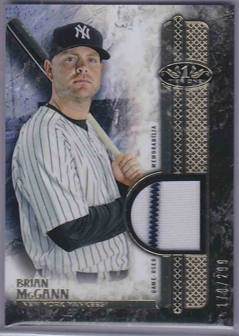 2016 Topps Tier One Relics Brian McCann #T1RBM card front image