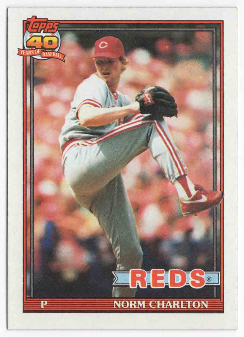 1991 Topps Norm Charlton #309 card front image