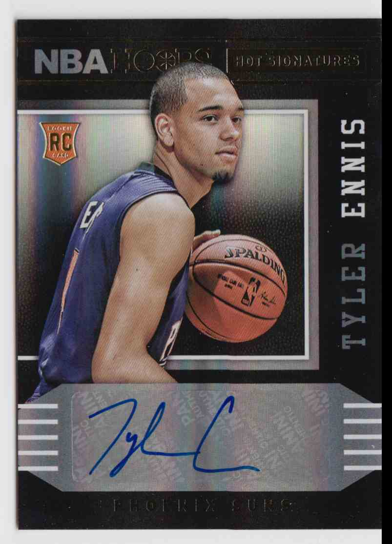 2014-15 Panini Hoops Hot Signatures Tyler Ennis #81 card front image
