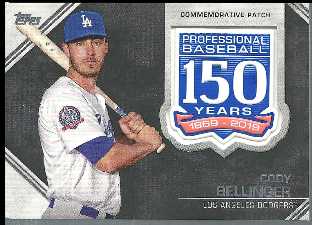 2019 Topps 150th Anniversary Manufactured Patches Cody Bellinger #AMP-CB card front image